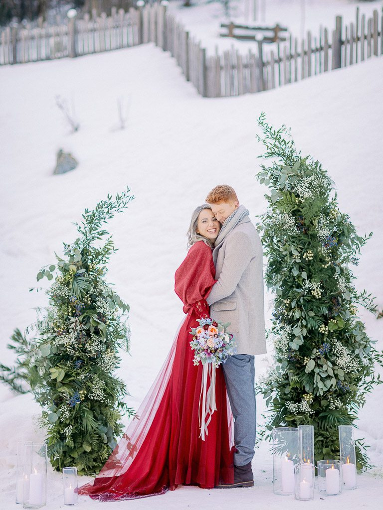 Vanessa Dennis Winter Wedding In Austrian Alps Vivid Symphony