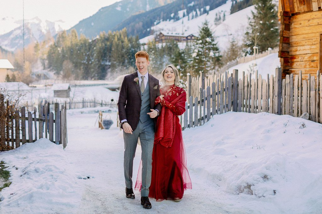 Vanessa & Dennis<br/>Winterhochzeit in den Alpen