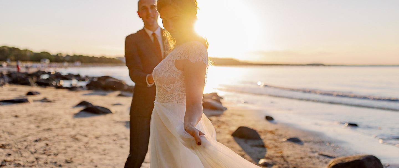 Elopment Video Hochzeitspaar am Strand